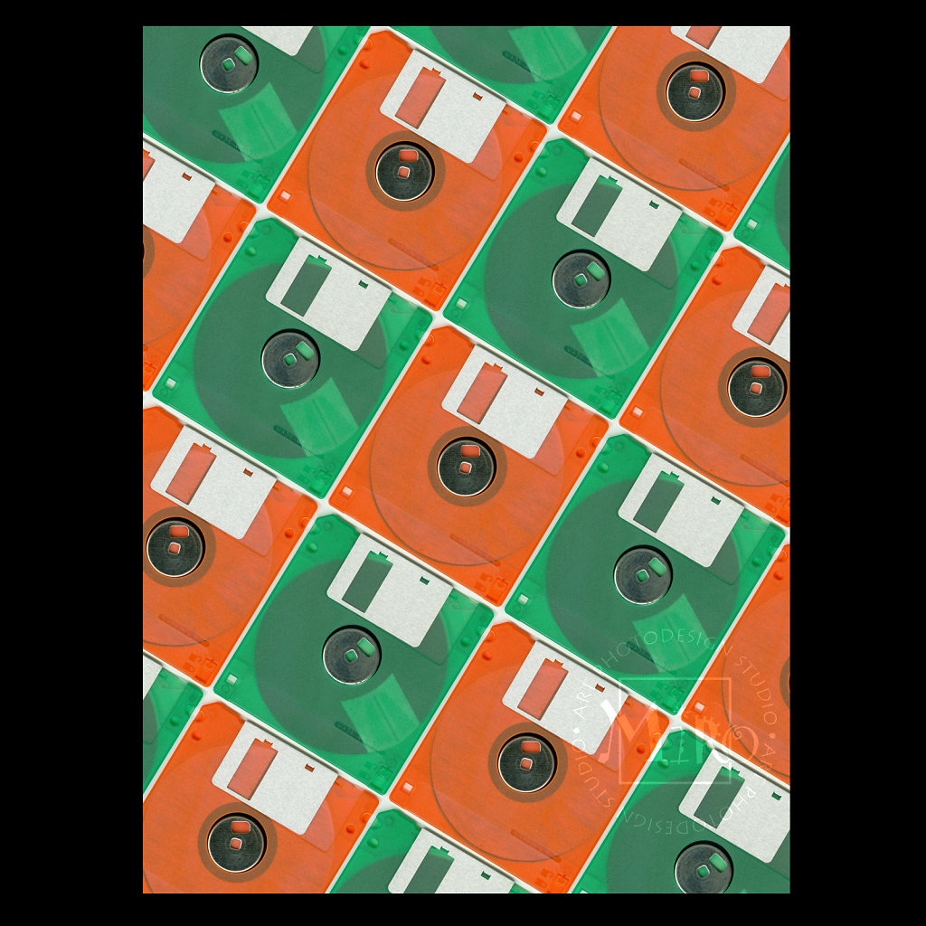 Floppy Disc Collage